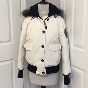 Superdry White Rescue Glacier Coat